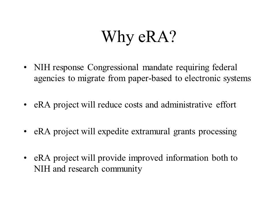 Why eRA.