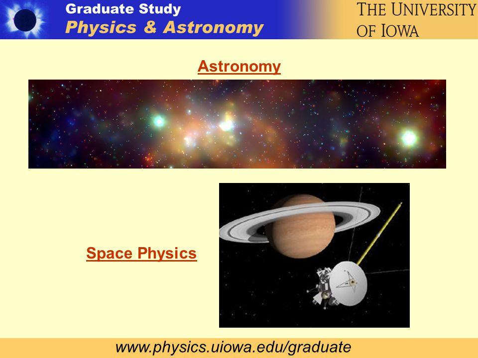 www.physics.uiowa.edu/graduate Astronomy Space Physics
