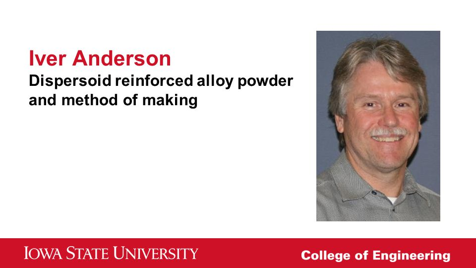Iver Anderson Dispersoid reinforced alloy powder and method of making