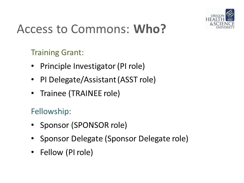 Access to Commons: Who.