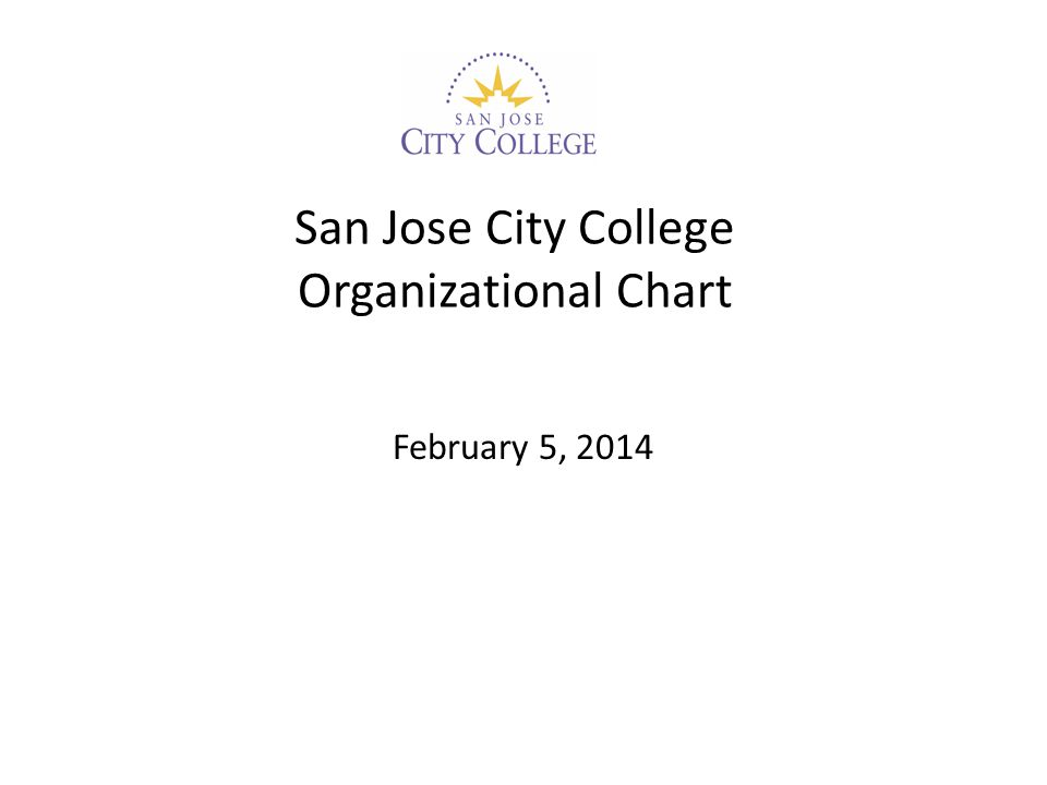 San Jose City College Organizational Chart February 5, 2014