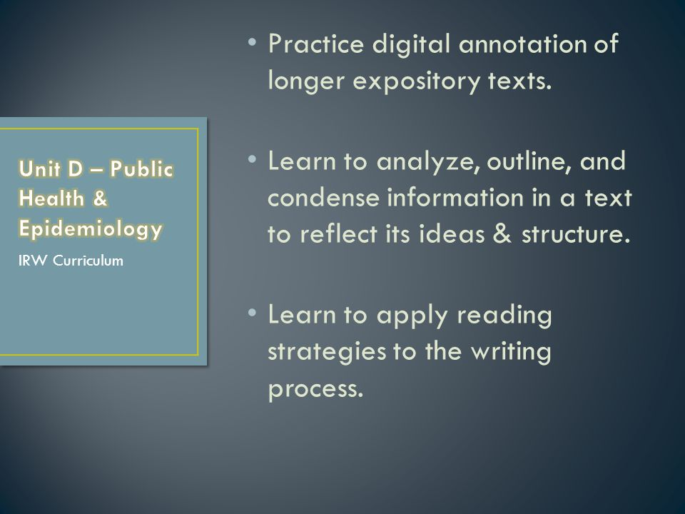 Practice digital annotation of longer expository texts.