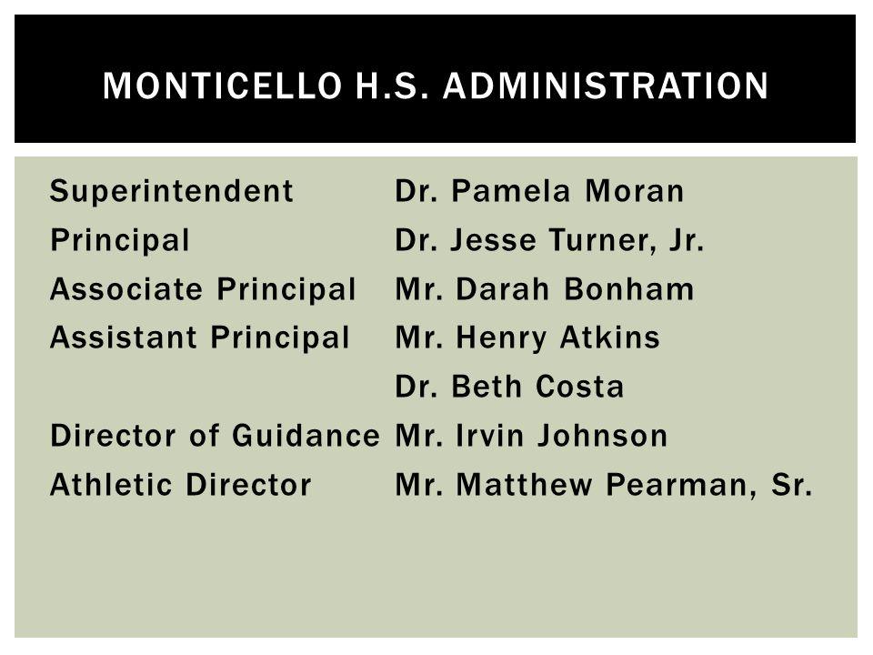 SuperintendentDr. Pamela Moran PrincipalDr. Jesse Turner, Jr.