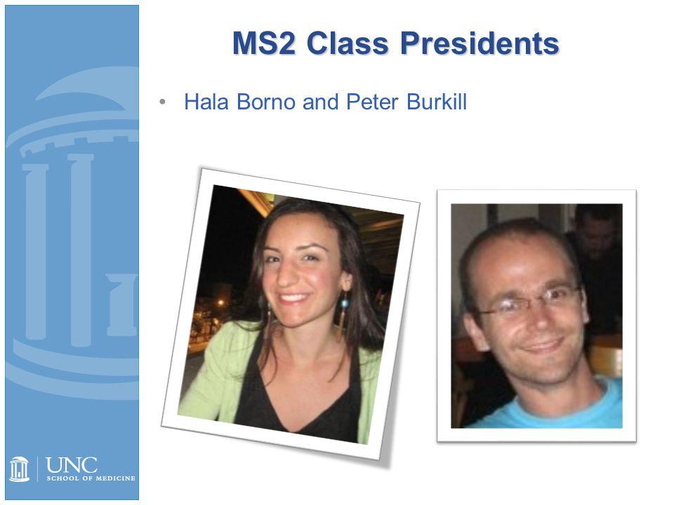 MS2 Class Presidents Hala Borno and Peter Burkill