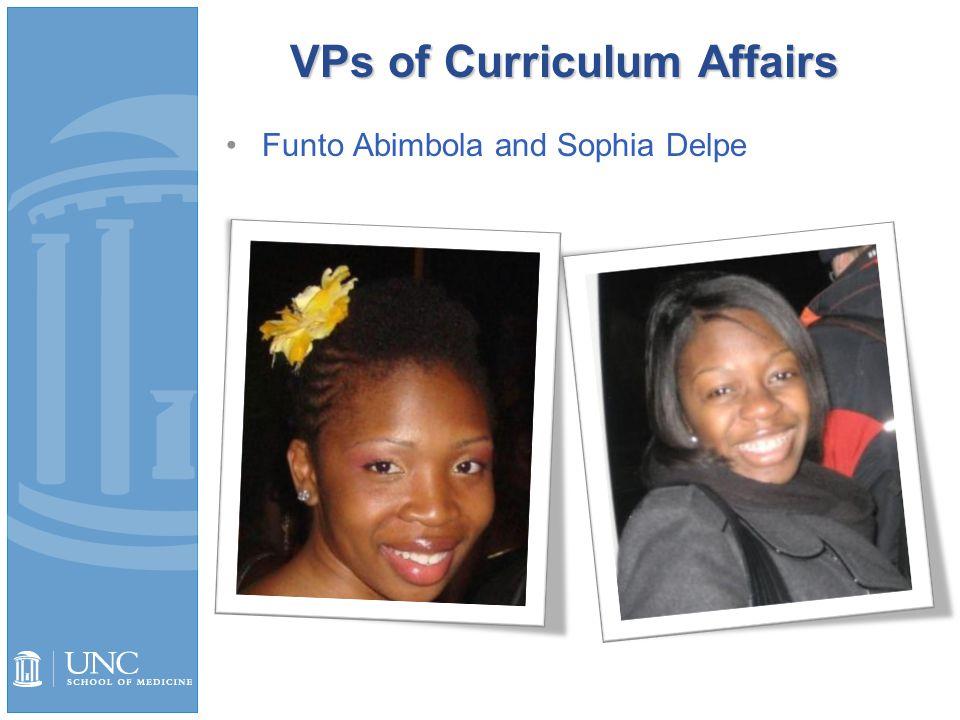VPs of Curriculum Affairs Funto Abimbola and Sophia Delpe