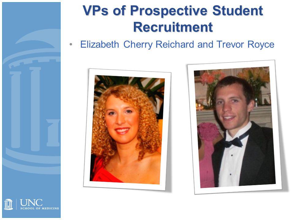 VPs of Prospective Student Recruitment Elizabeth Cherry Reichard and Trevor Royce