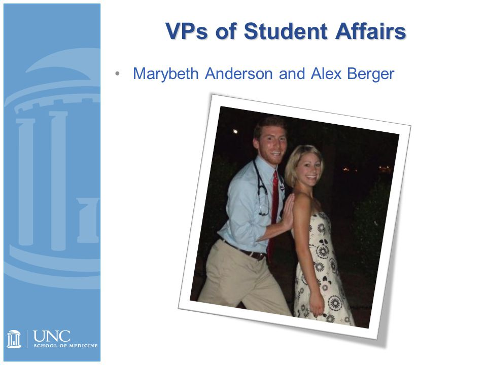 VPs of Student Affairs Marybeth Anderson and Alex Berger