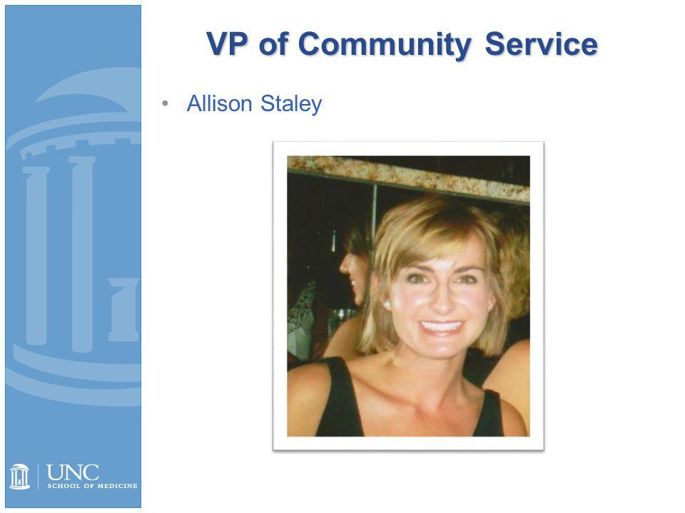 VP of Community Service Allison Staley