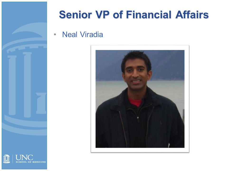 Senior VP of Financial Affairs Neal Viradia