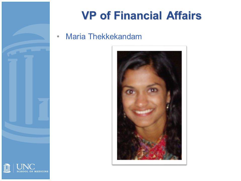 VP of Financial Affairs Maria Thekkekandam