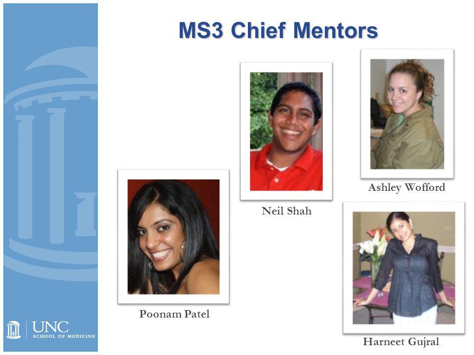 MS3 Chief Mentors Harneet Gujral Ashley Wofford Neil Shah Poonam Patel