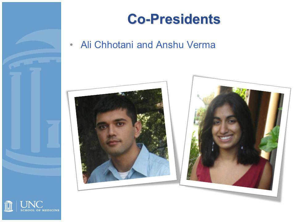 Co-Presidents Ali Chhotani and Anshu Verma