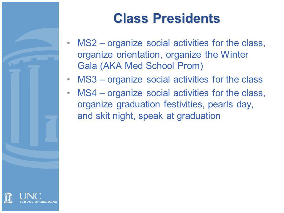 MS4 Class Presidents Gabriel Cade and Nadia Gavrilova