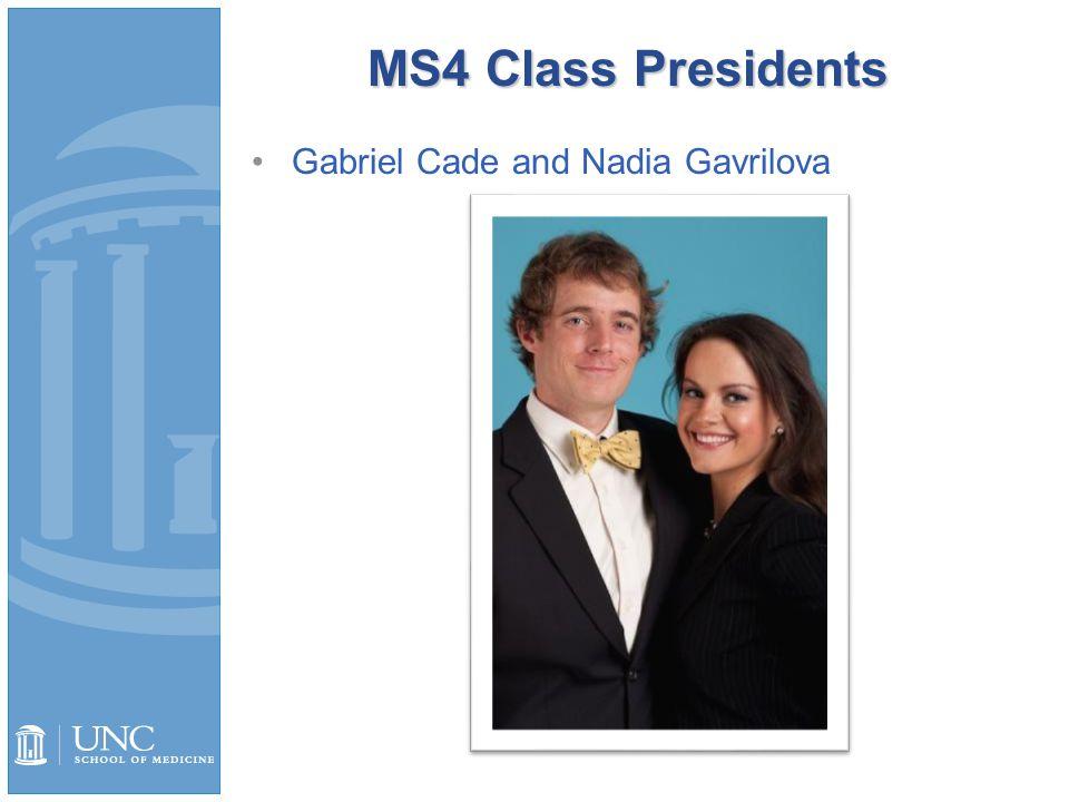 MS3 Class Presidents Megan Jordan and Daniel Verges