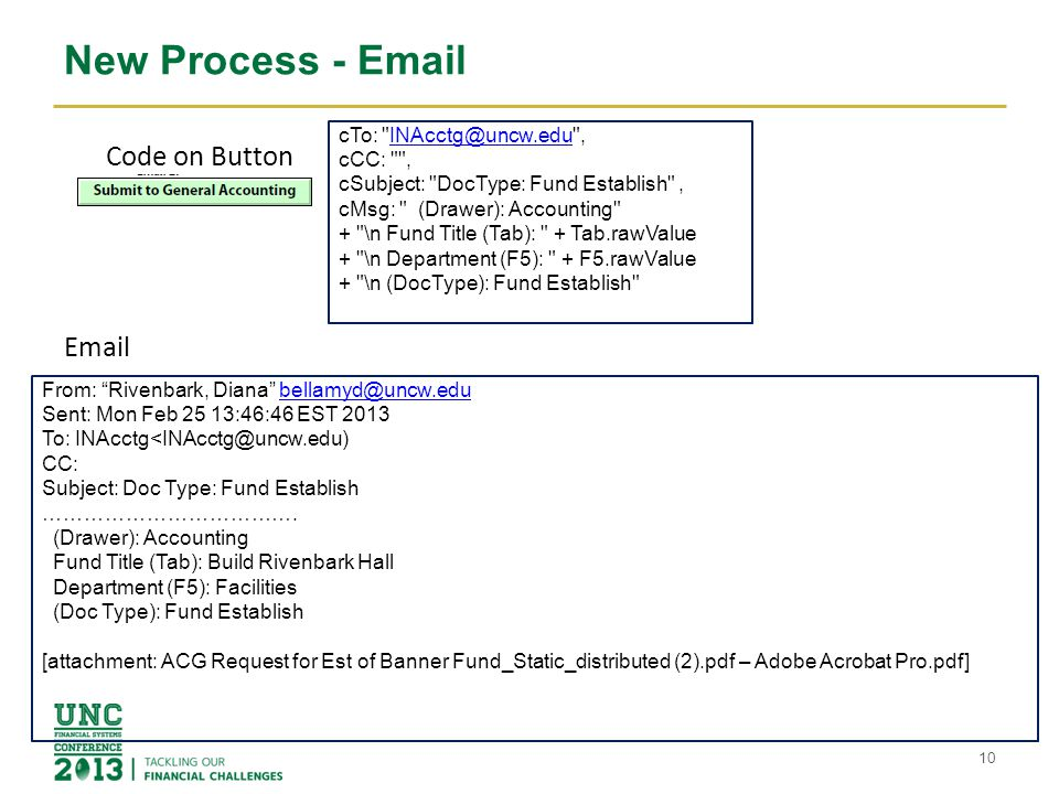 New Process - Email 10 cTo: