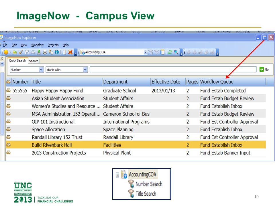 ImageNow - Campus View 19.