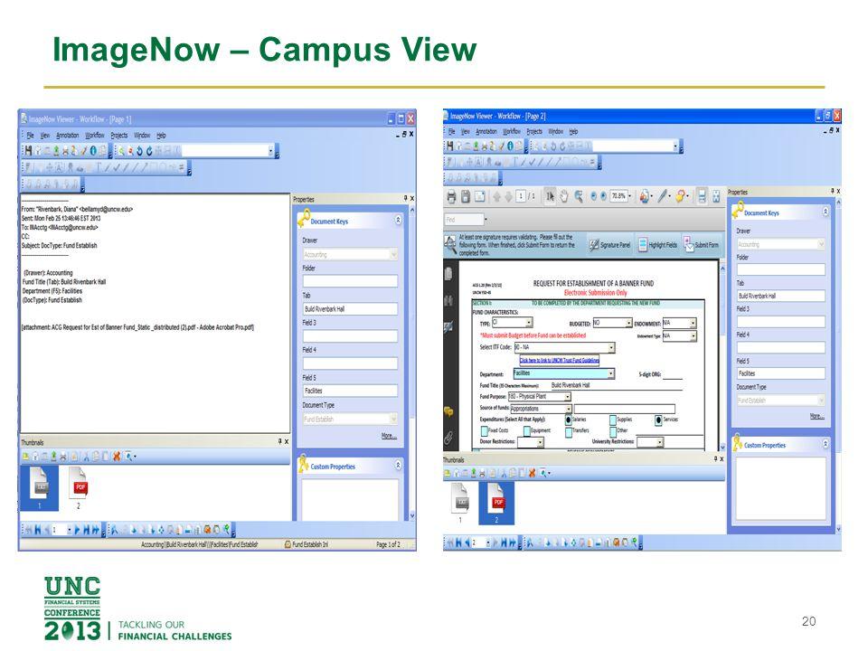 ImageNow – Campus View 20