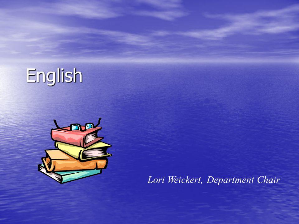 English Lori Weickert, Department Chair