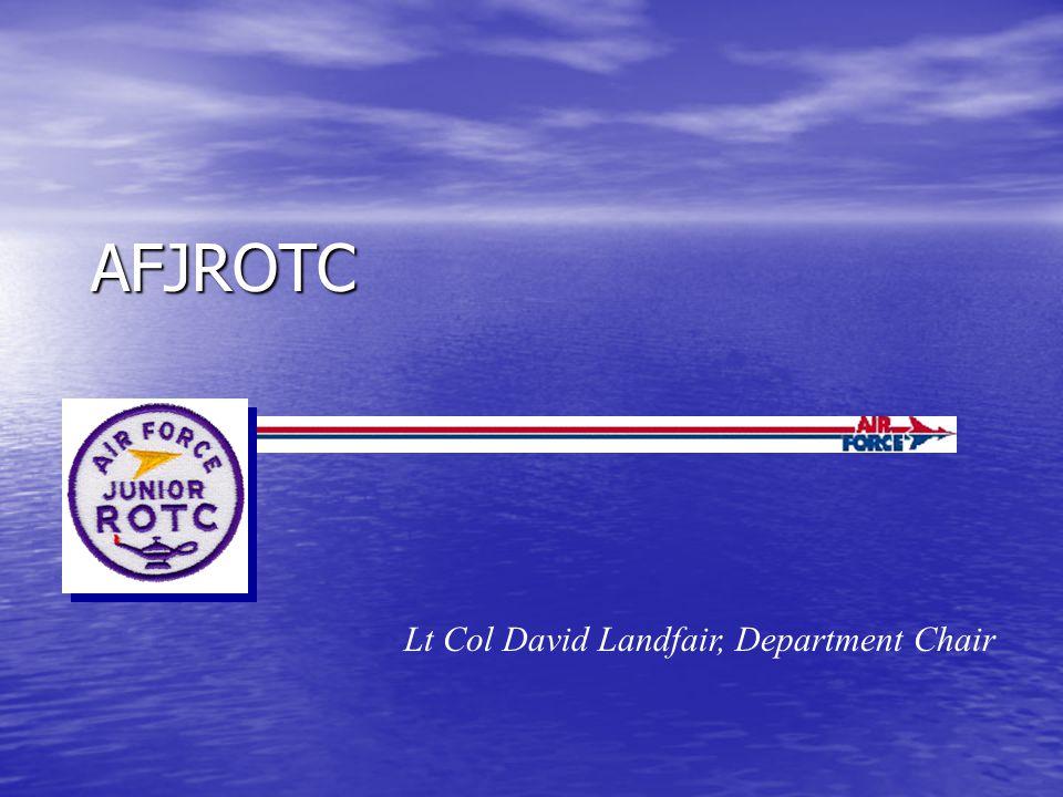 AFJROTC Lt Col David Landfair, Department Chair