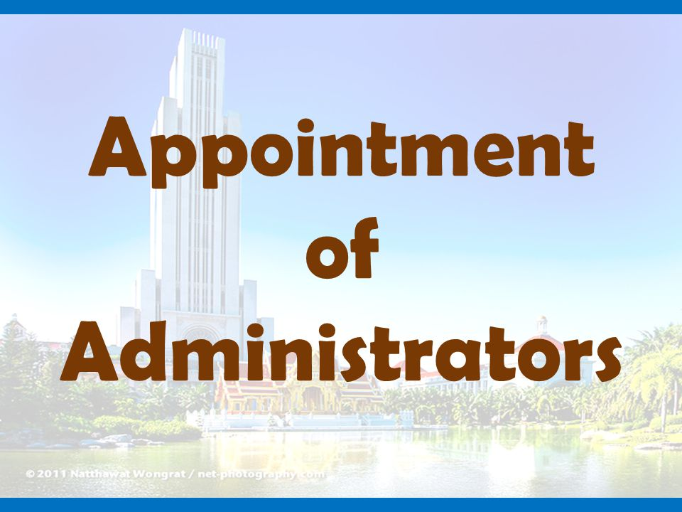 Appointment of Administrators