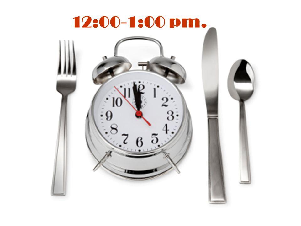 12:00-1:00 pm.