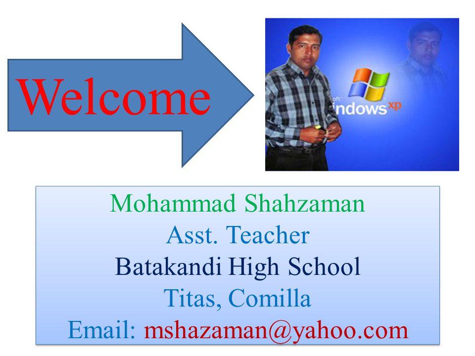 Mohammad Shahzaman Asst.