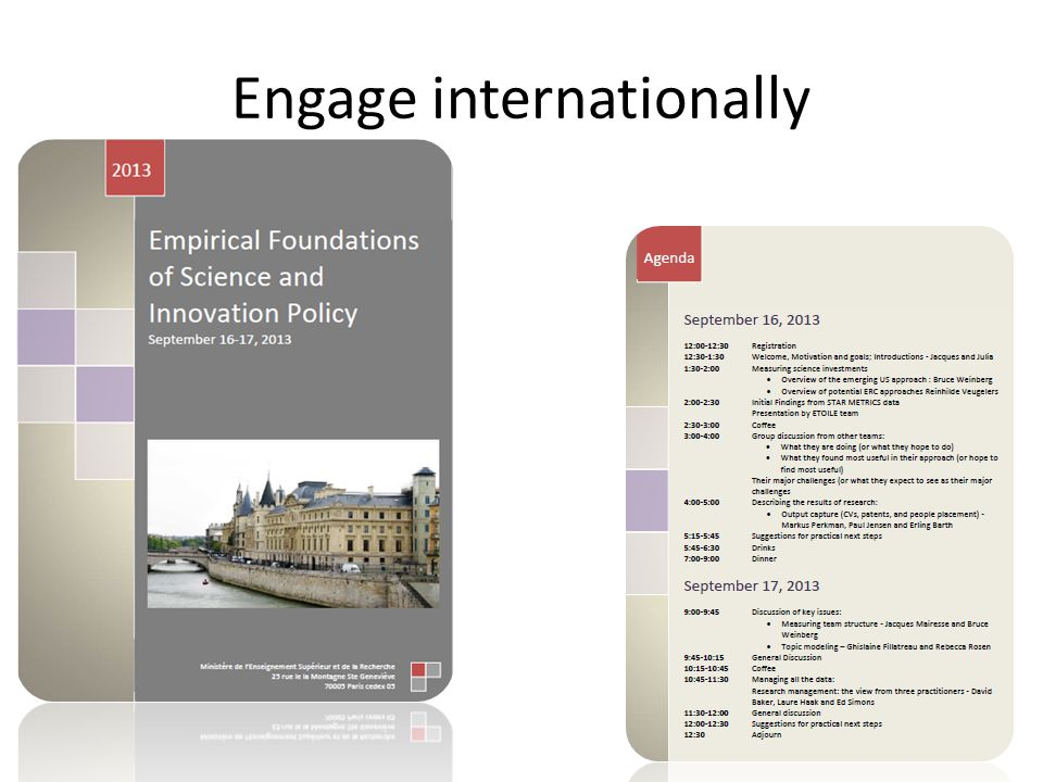 Engage internationally