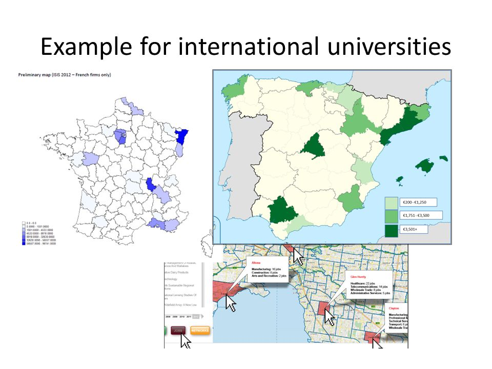 Example for international universities