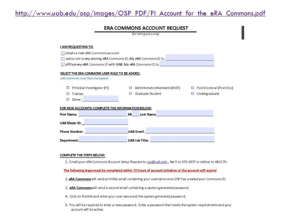 http://www.uab.edu/osp/images/OSP_PDF/PI_Account_for_the_eRA_Commons.pdf