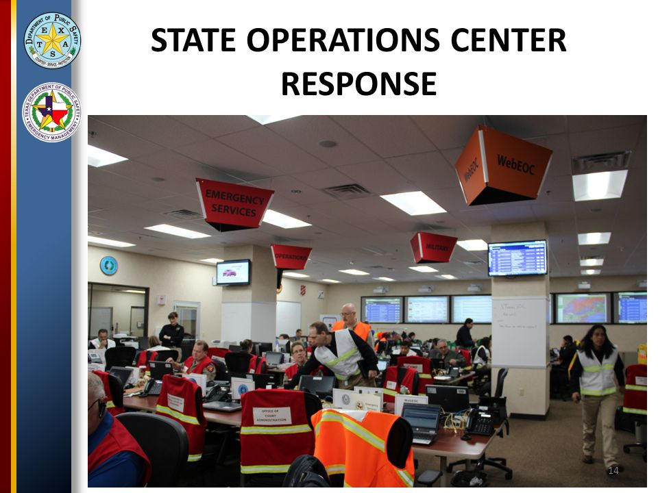 STATE OPERATIONS CENTER RESPONSE 14