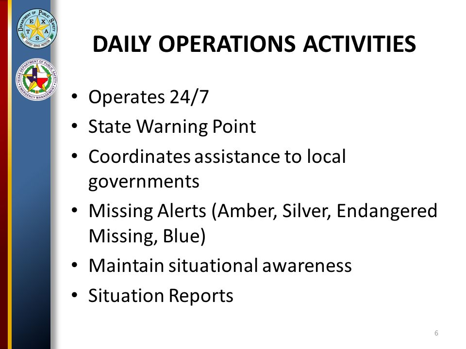 SOC RESPONSE TO ENERGY EMERGENCY ALERTS EEA 1 – Power Watch – Situational Awareness – Forward press releases EEA 2 – Power Watch – Situational Awareness – Forward press releases – Coordination with District Coordinators/local governments as necessary 17