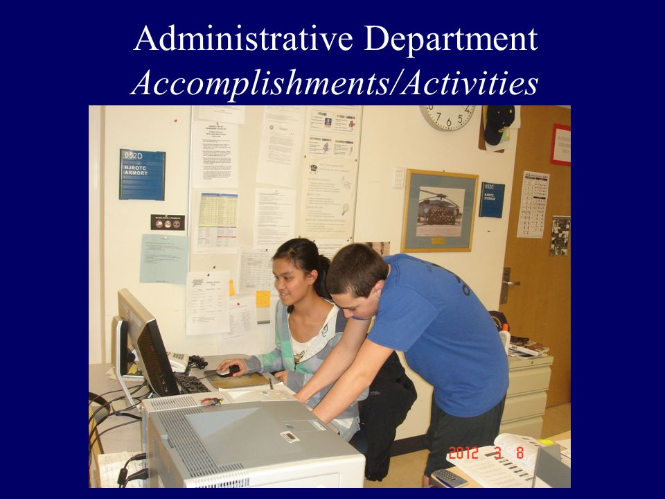 Administrative Department Accomplishments/Activities
