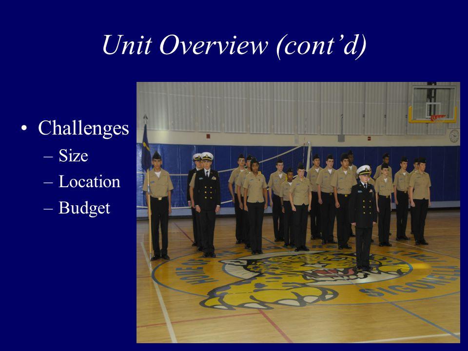 Unit Overview (cont'd) Challenges –Size –Location –Budget