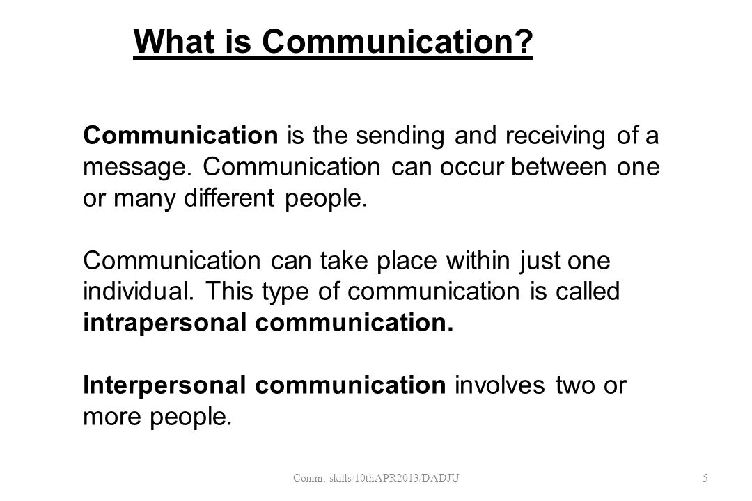 Intrapersonal communication  refers to the conversation that is continually going on in your own mind.