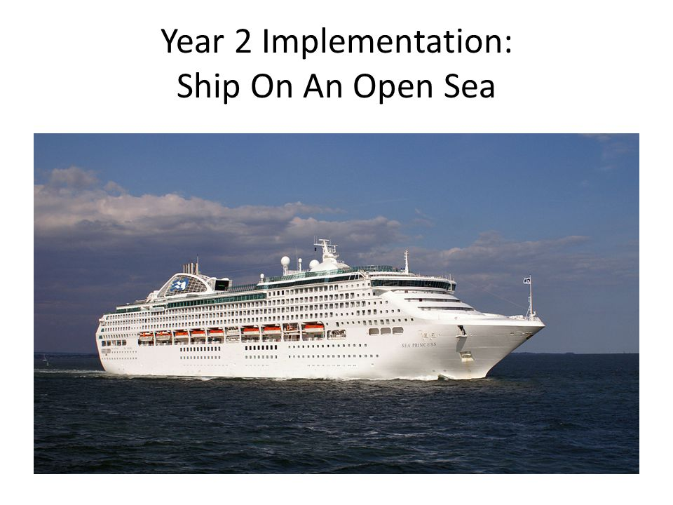 Year 2 Implementation: Ship On An Open Sea