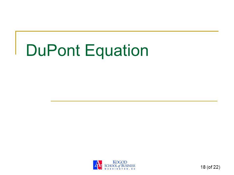 DuPont Equation 18 (of 22)