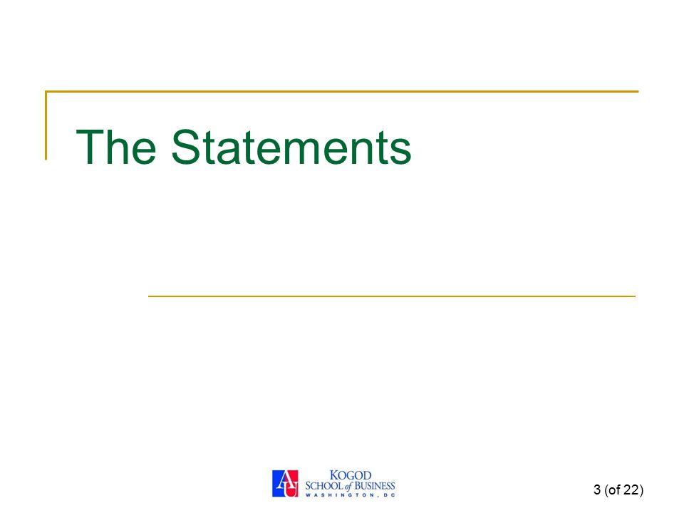 The Statements 3 (of 22)