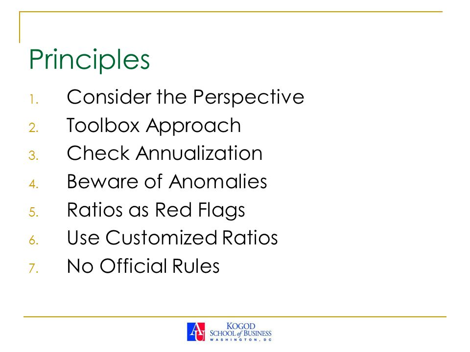 1.Consider the Perspective 2. Toolbox Approach 3.
