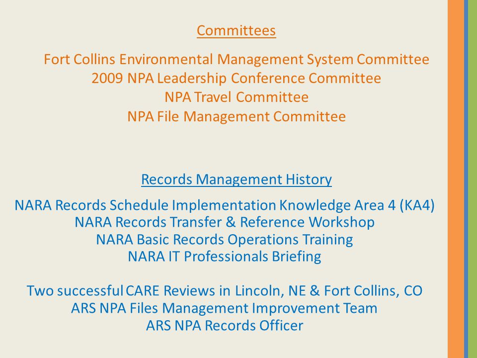 I f you were absent, can we find the document we need? Photo Source: NARA, 2010 USDA-ARS-NPA, 2010