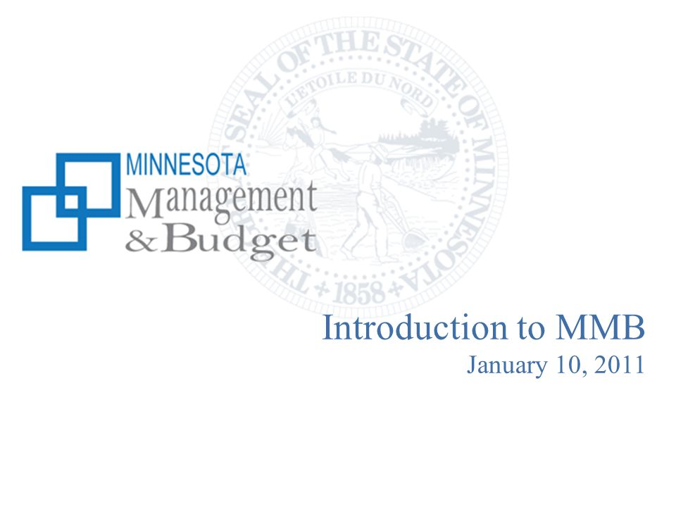 Introduction to MMB January 10, 2011