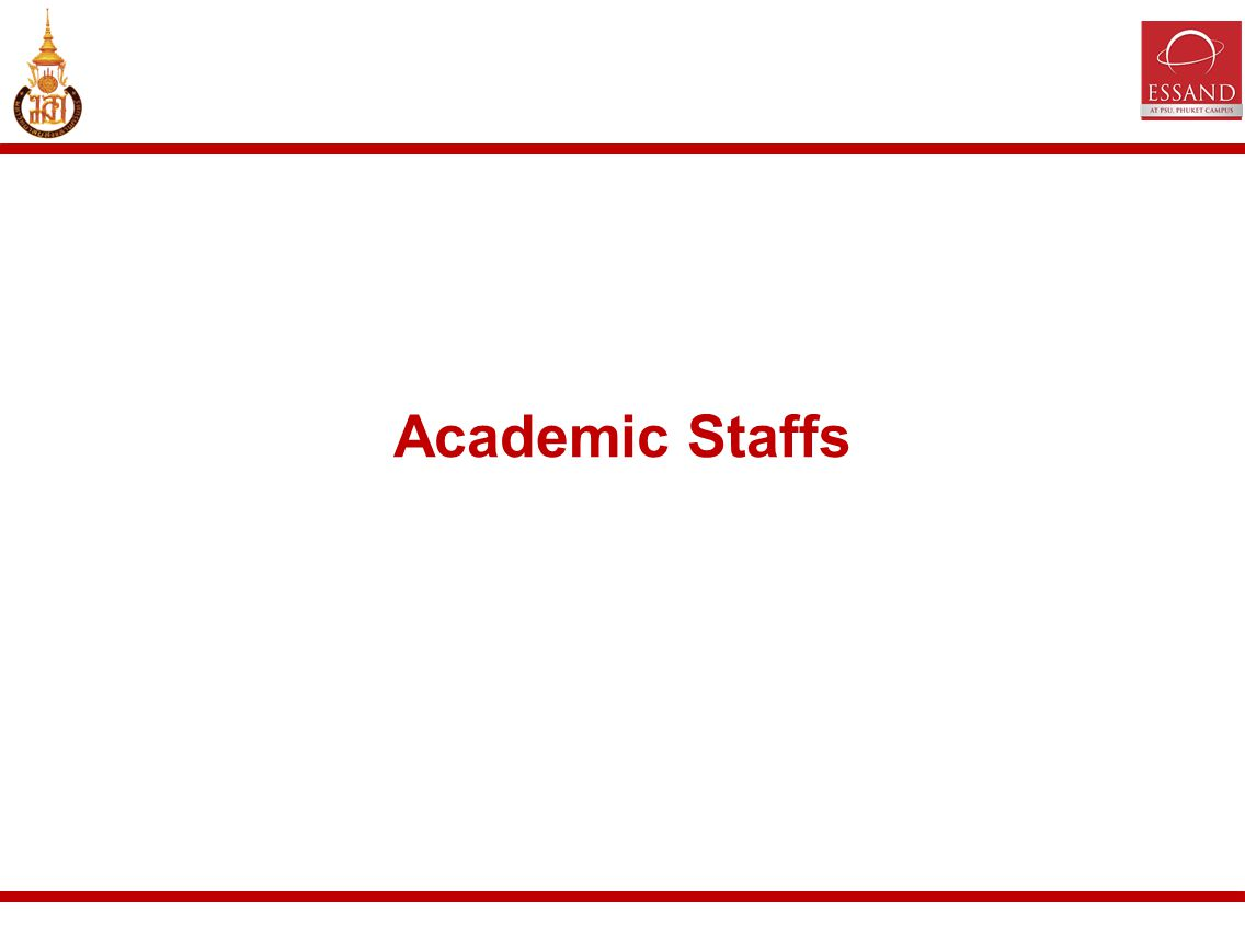 Academic Staffs