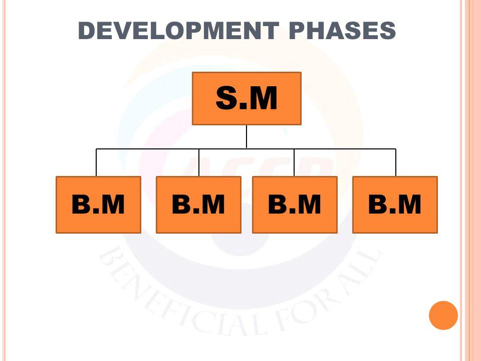 DEVELOPMENT PHASES S.M B.M