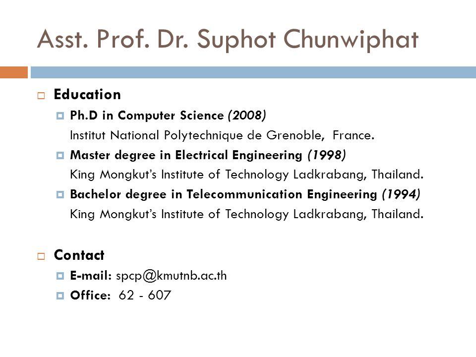 Asst. Prof. Dr.