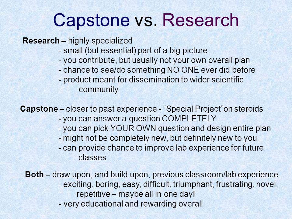 So Why Choose Capstone.