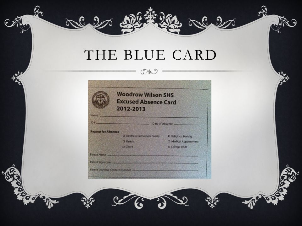 THE BLUE CARD