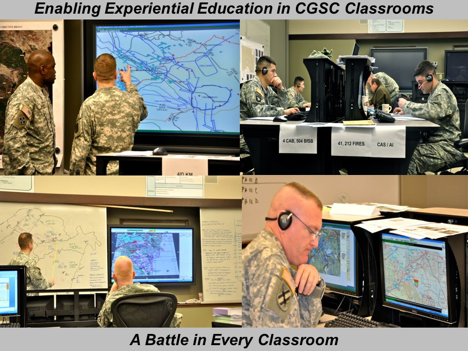 Enabling Experiential Education in CGSC Classrooms A Battle in Every Classroom