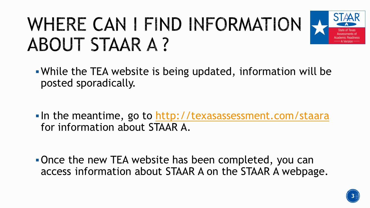  While the TEA website is being updated, information will be posted sporadically.