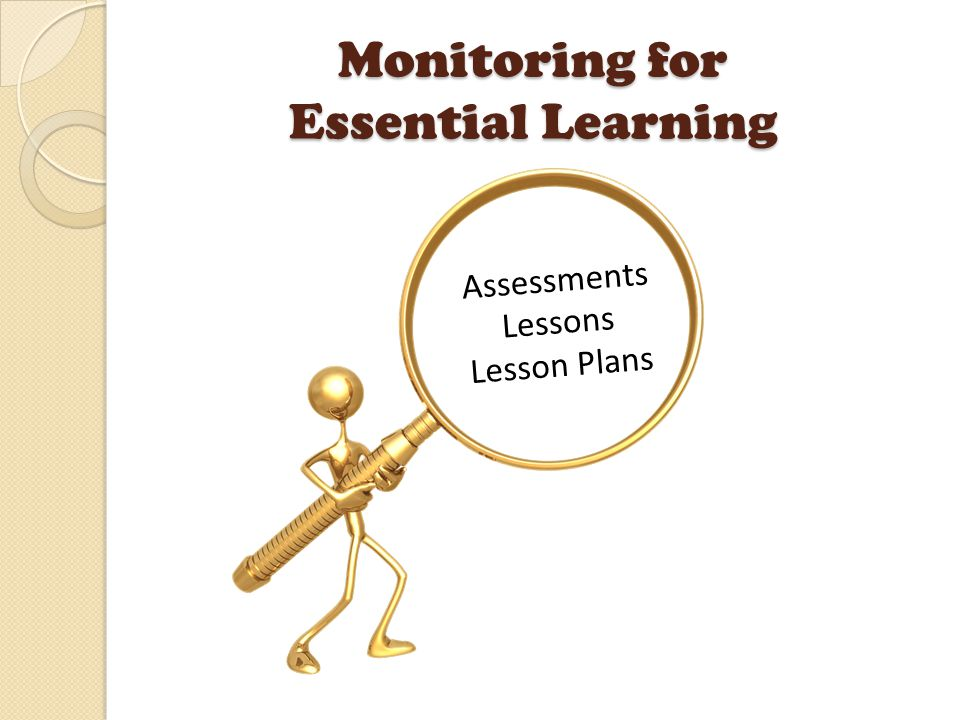 Monitoring for Essential Learning Assessments Lessons Lesson Plans