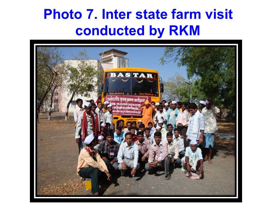 Photo 6. Farmers training programme organized by the RKM at village- Palki, Narainpur
