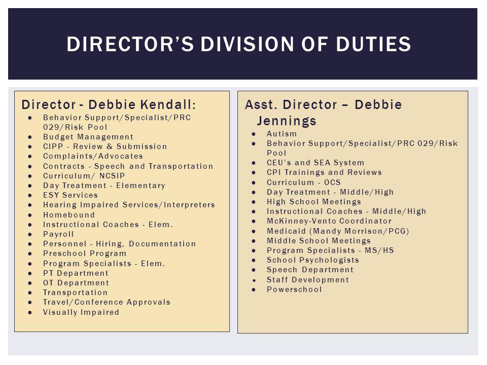DIRECTOR UPDATES